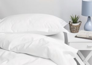 1000 THREAD COUNT DUVET COVER SET WHITE
