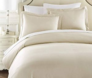 300 THREAD COUNT DUVET COVER SET CREAM