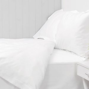 550 THREAD COUNT DUVET COVER SET WHITE