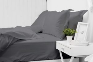 550 THREAD COUNT PILLOW CASE SET CHARCOAL
