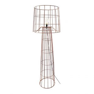 Lighthouse Floor Lamp & Shade - Copper