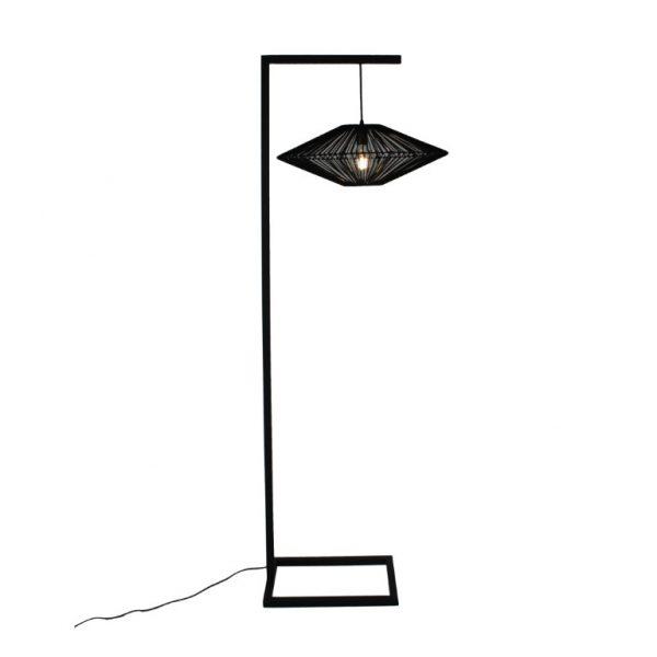 UFO Floor Lamp - Sandpaper Black