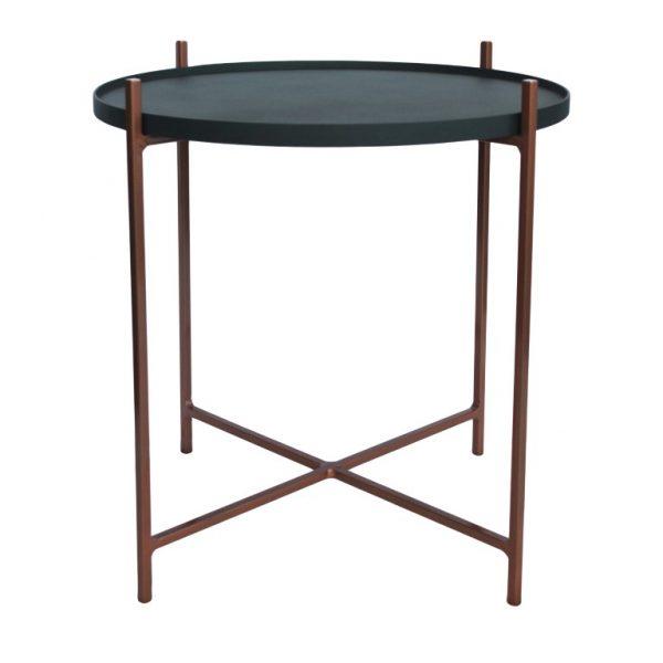 Floating Side Table - Sandpaper Black