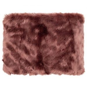 Ruby Furry Peacock Throw