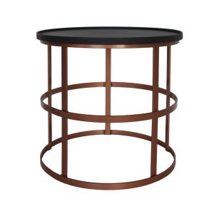 Gymkhana Coffee Table (Loose Top) - Black Top / Copper Base