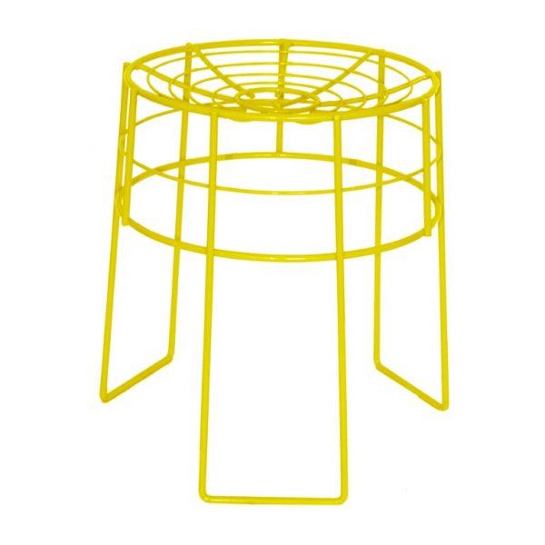 Wire Stool - Light Yellow Gloss
