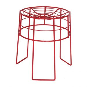 Wire Stool - Rose Gloss (Coral)